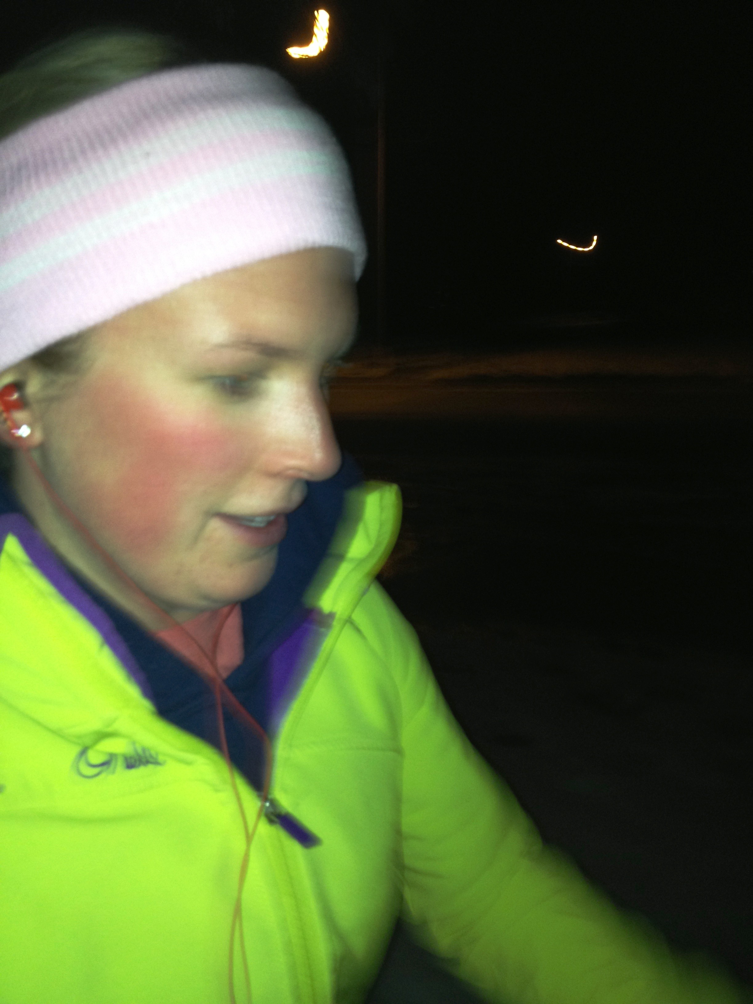 My blurry running pic