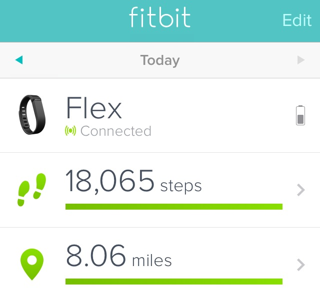 My steps/distance after. That is 11,000 steps in a game!
