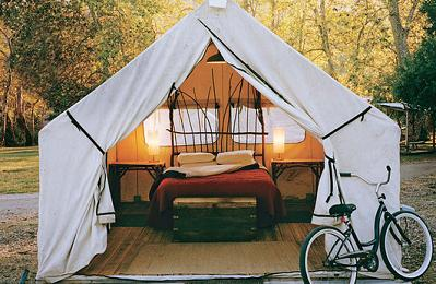 Maybe we need to go all out glamping! Ha ha ha! Definitely not roughing it.