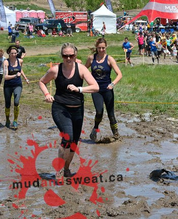 Running through mud was fun, but up hills? No way!