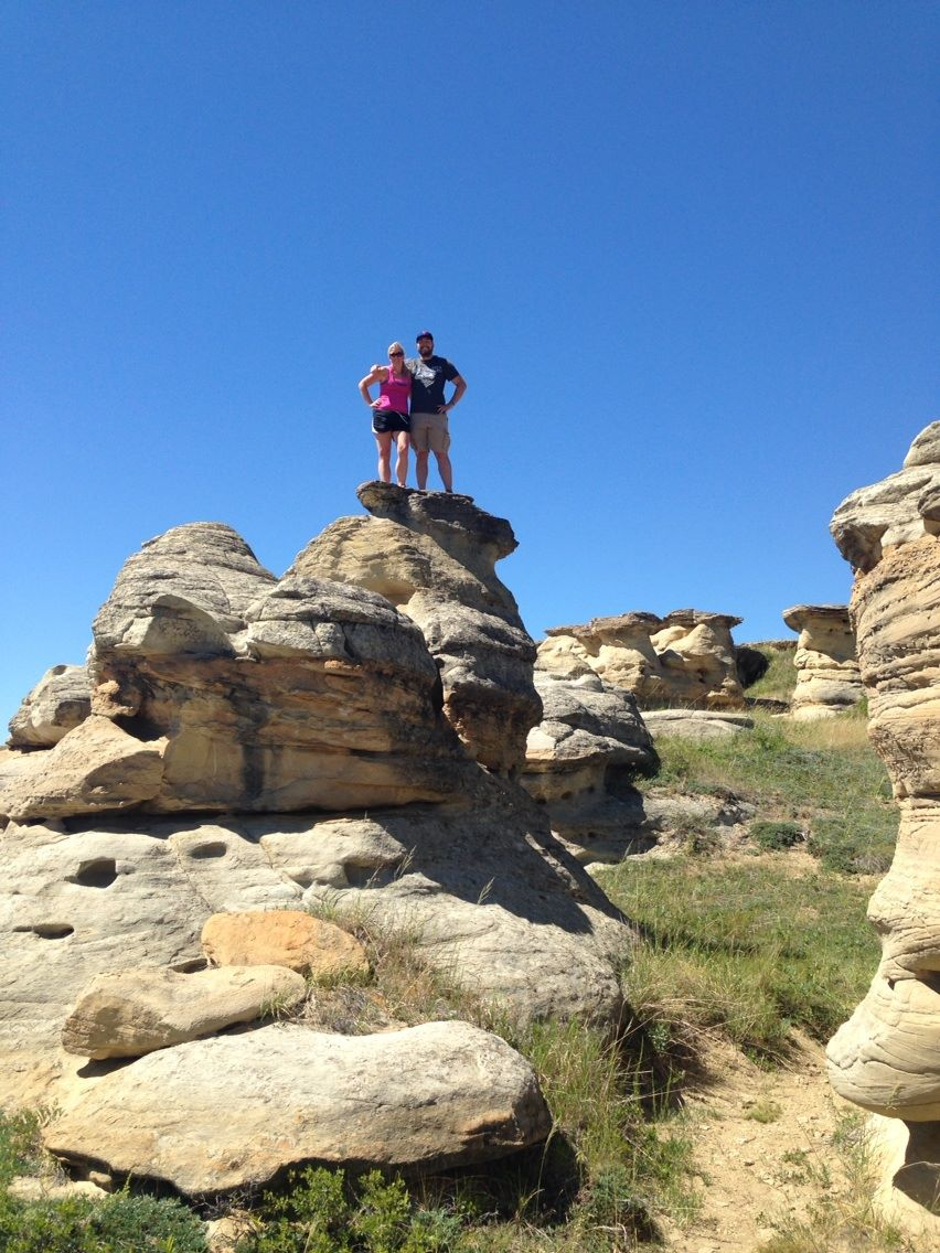 My brother Bruce and I atop a hoodoo