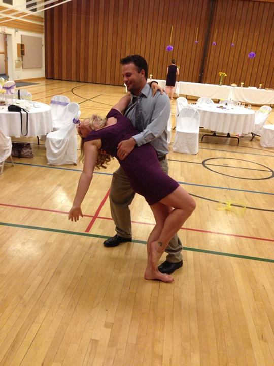Ryan and I dancing. Ha ha ha!