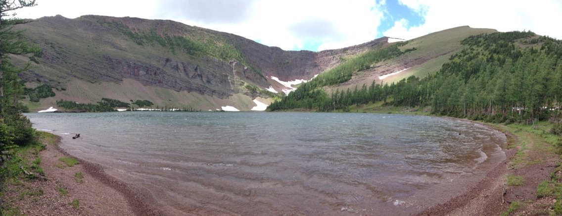 Pano of Upper Rowe Lake