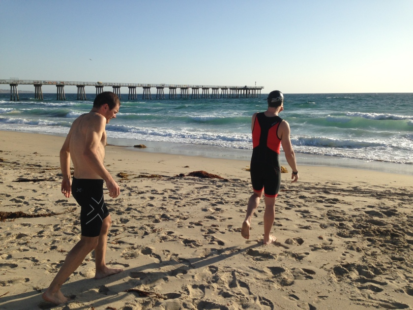 These guys went for a real ocean water swim not pictured is camera shy Ashley!)