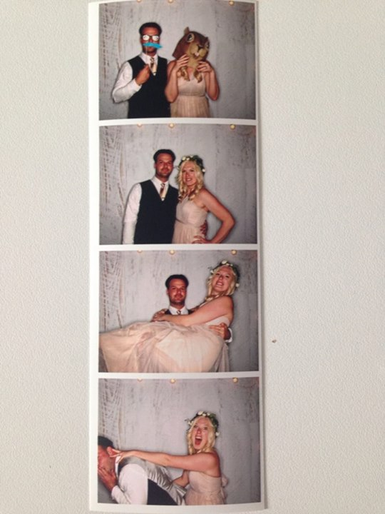 Ryan and I hit the photo booth. The last photo is my fave!
